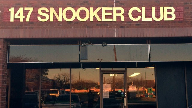 The facade of the newly established 147 Snooker Club in Houston - Photo courtesy of Syed Hassan