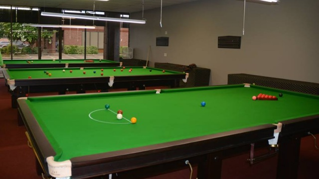 Inside of the 147 Snooker Club pictured on opening day - Photo courtesy of Syed Hassan