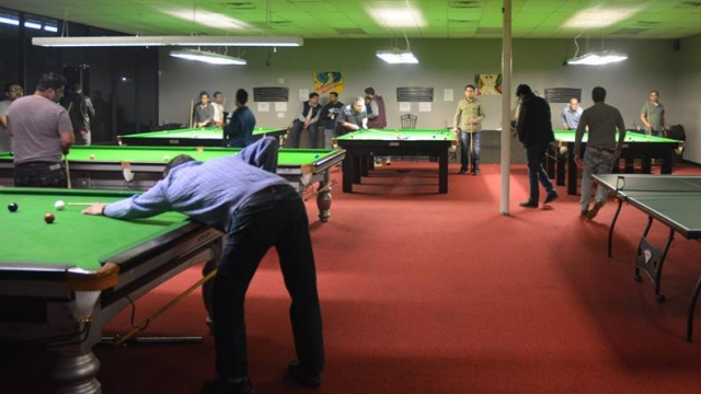 All five tables pictured in operation at the 147 Snooker Club - Photo courtesy of Mani Hassan