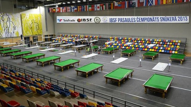 The 20-table arena setup inside the Olympic Center - Photo courtesy of the IBSF