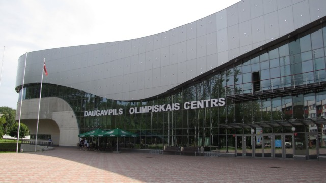 The Olympic Center sports complex in the Latvian city of Daugavpils