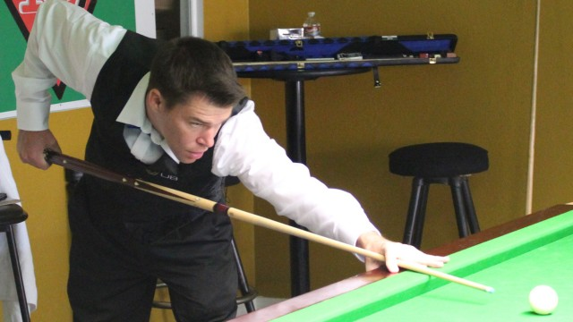 Corey Deuel pictured during the 2013 United States National Snooker Championship - Photo © SnookerUSA.com