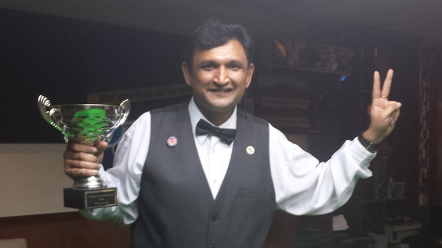 Ajeya Prabhakar wins his second United States National Snooker Championship title this year at Top 147 Snooker Club in Brooklyn, New York - Photo © SnookerUSA.com