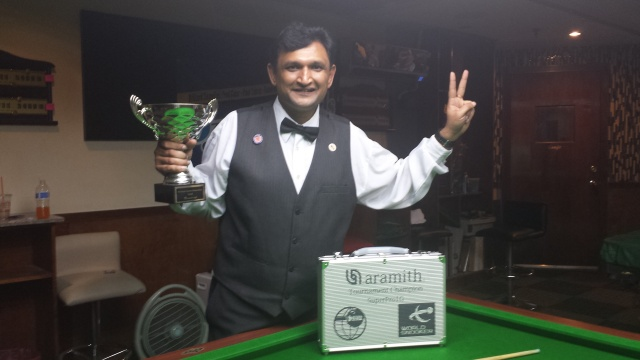 The 2014 United States National Snooker Champion, Ajeya Prabhakar - Photo © SnookerUSA.com