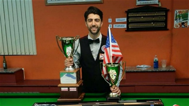 The 2015 United States National Snooker Champion, Sargon Isaac - Photo © SnookerUSA.com
