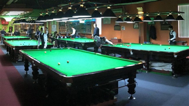 Group play in action at the 2015 United States National Snooker Championship - Photo © SnookerUSA.com