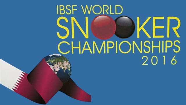 2016 IBSF World Snooker Championships. Doha, Qatar. November 18-29