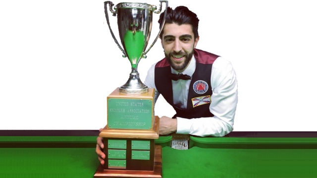 The 2016 United States National Snooker Champion, Sargon Isaac - Photo © SnookerUSA.com