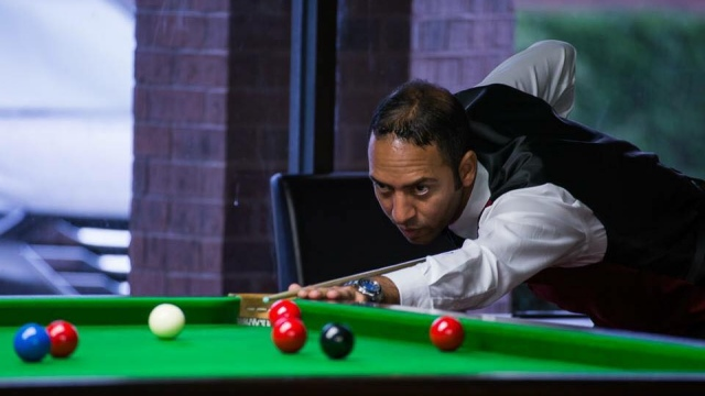 Number three seed Ahmed Aly Elsayed pictured in Group play during the 2016 United States National Snooker Championship - Photo © SnookerUSA.com
