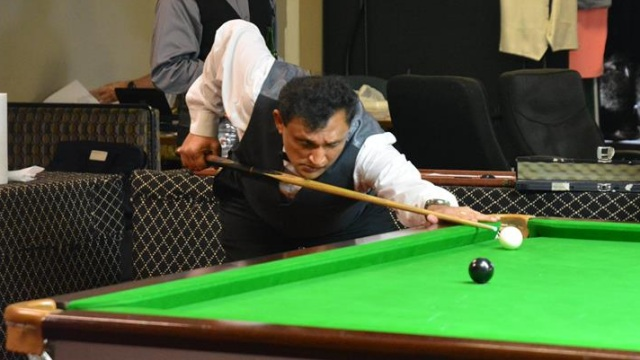 Number two seed Ajeya Prabhakar pictured in Group play during the 2016 United States National Snooker Championship - Photo © SnookerUSA.com