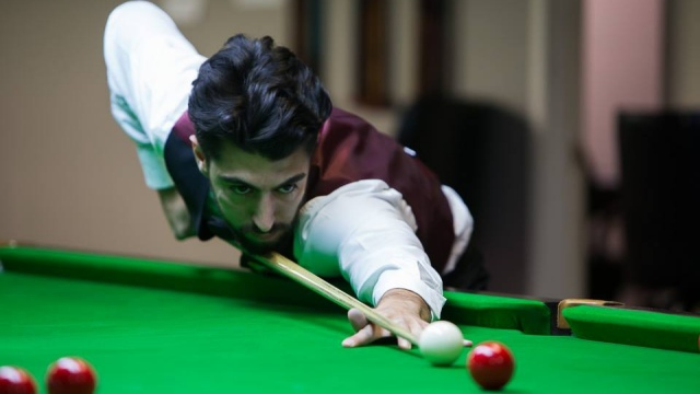 The defending United States National Snooker Champion, Sargon Isaac, pictured in Group play during the 2016 United States National Snooker Championship - Photo © SnookerUSA.com