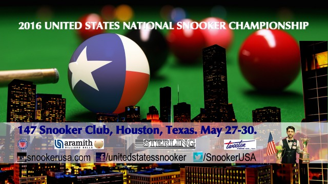 2016 United States National Snooker Championship. 147 Snooker Club, Houston, Texas. May 27-30