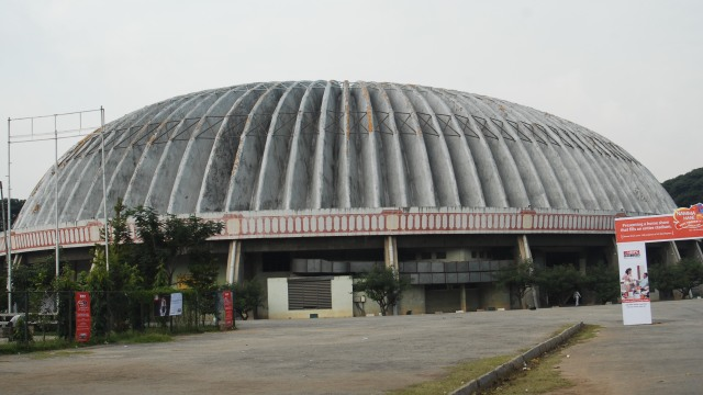 The Kanteerava Indoor Stadium, the venue for the 2014 IBSF World Snooker Championships in Bangalore, India - Photo courtesy karnataka.gov.in