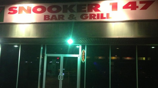 The entrance facade to Snooker 147 Bar & Grill - Photo courtesy of Snooker 147 Bar & Grill